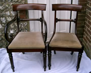 For Sale 8 Early 19th century Mahogany Bar back chairs