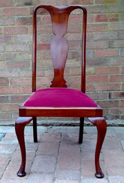 Wanted, 1 3 Queen Anne style fiddle back mahogany dining chairs