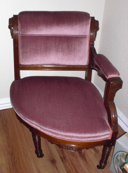 Victorian Style Boudoir Corner Chair - For Sale - Victorian Style Boudoir Corner Chair