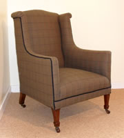 A Victorian Wing Armchair c1890