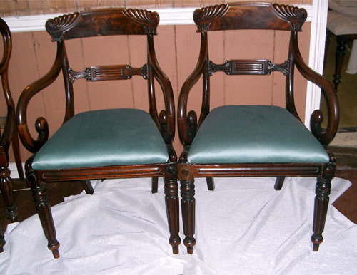 SOLD - Fantastic quality matching pair of late Regency / William 4th  mahogany carver chairs - SOLD - Fantastic Quality Matching Pair Of Late Regency / William 4th