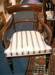 Good Regency mahogany carver chair