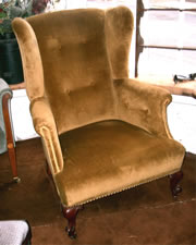 A very nice Victorian wing armchair