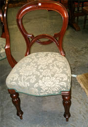 SOLD   An Excellent Quality Set Of Six Victorian Mahogany Balloon Back  Chairs
